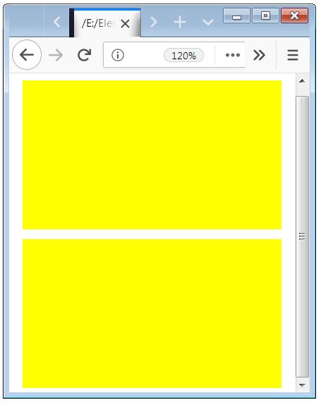 Effect of Media Query below 450px width