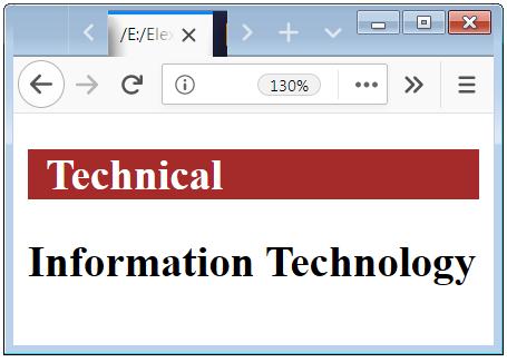 CSS Descendant Combinator Example