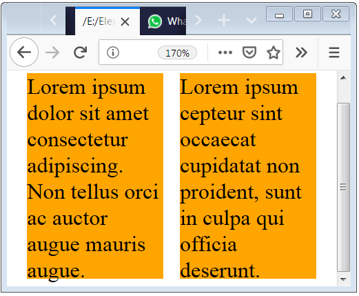 CSS Media for Screen or Print Full Width View and Font Size 35px