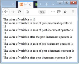 Increment Decrement Operators