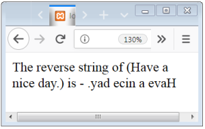 PHP String Reverse Function