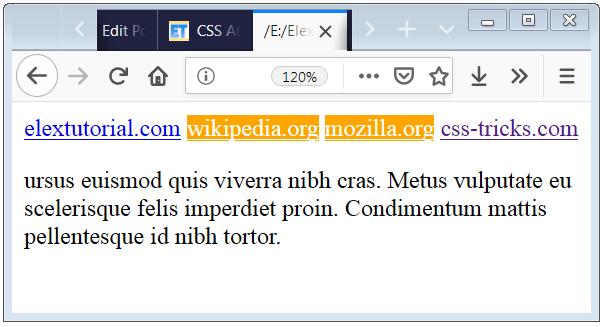 CSS Attribute Selector having Target Attribute Present