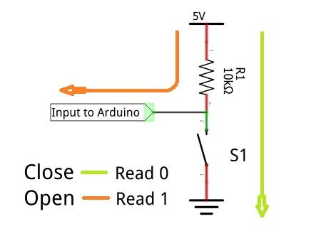 Arduino Button or Switch Interface Circuit without Pull Up Resistor