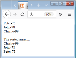 PHP Array Sort by value