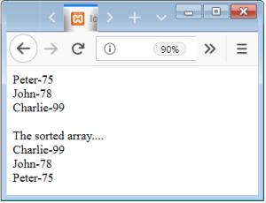 PHP Array kshort Function
