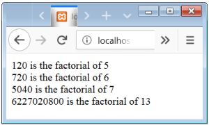 PHP Factorial Function