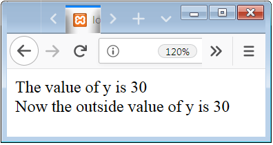 PHP Global Variable Scope Example in function