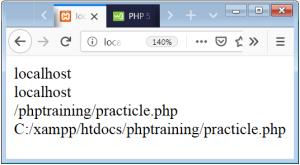 PHP Superglobals Server