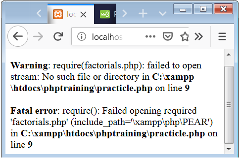 PHP include VS require
