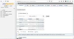 phpmyadmin Create Database