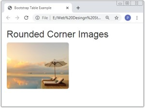 Bootstrap 3 Images Rounded Corner Image