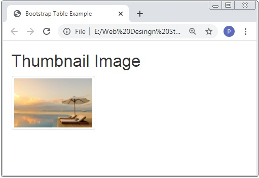 Bootstrap  3 Images Thumbnail Image