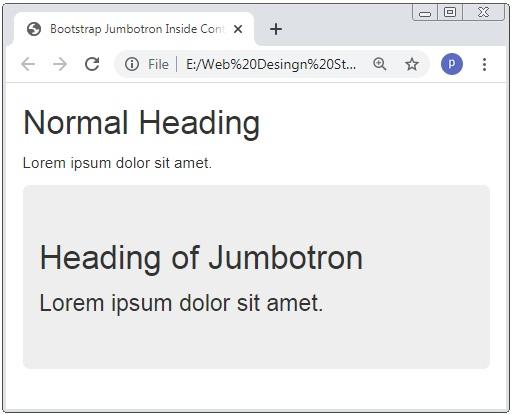 Bootstrap 3 Jumbotron