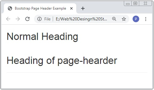 Bootstrap 3 Page Header