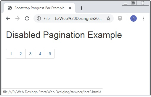 Bootstrap 3 Pagination Example