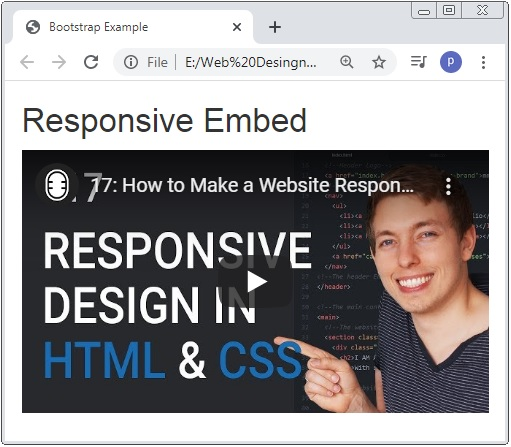 Bootstrap 3 Responsive Embed
