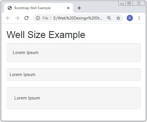 Bootstrap 3 Well Examples