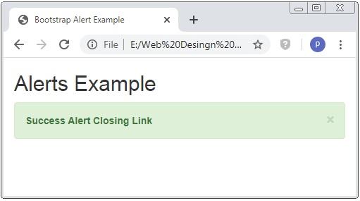 Bootstrap Alert Class Example
