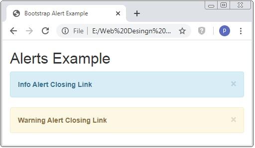 Bootstrap Alert Class Message Example