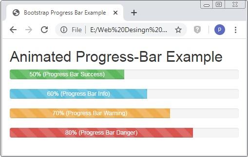 Bootstrap Animated Progress Bar