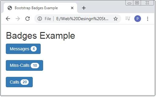 Bootstrap Badges Button
