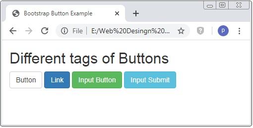 Bootstrap Button Class