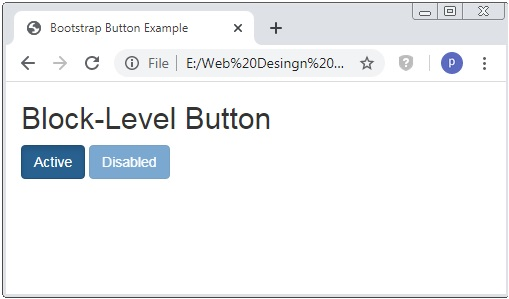 Bootstrap Button Disabled