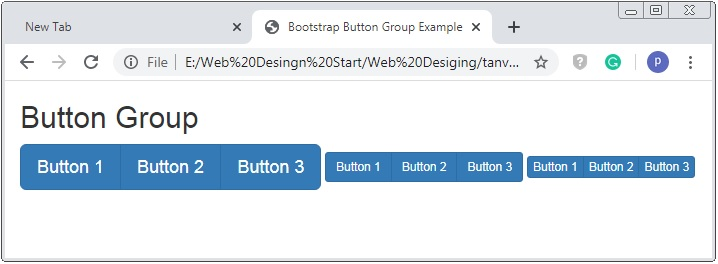 Bootstrap Button Group Sizes