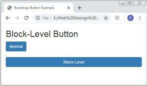 Bootstrap Button Size Class
