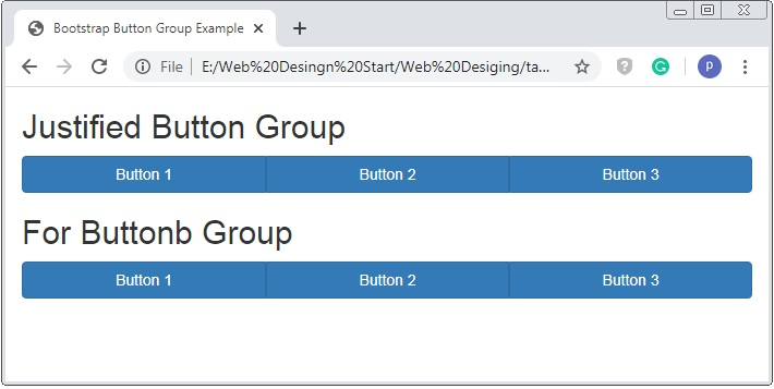 Bootstrap Justified Button Group