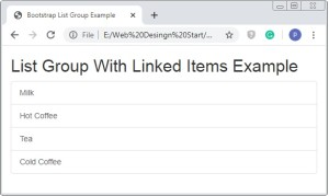 Bootstrap List Groups Example
