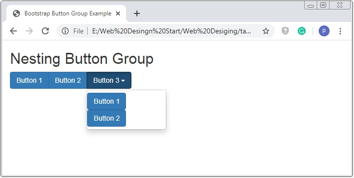 Bootstrap Nested Button Group