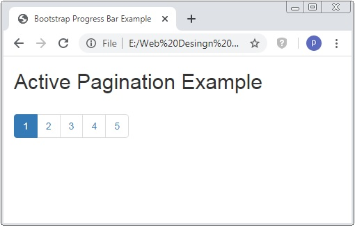 Bootstrap Pagination Example