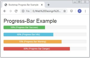 Bootstrap Progress Bar with Color