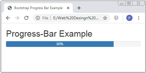 Bootstrap Progress Bar with Percentage