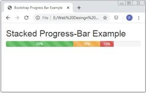 Bootstrap Stacked Progress Bar
