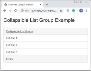 Bootstrap Collapsible List Group