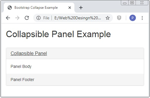 Bootstrap Collapsible Panel