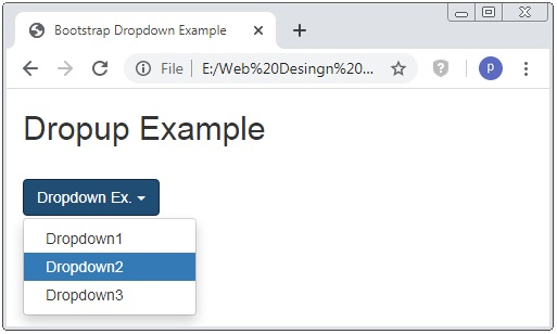Bootstrap Dropdown Accessibility