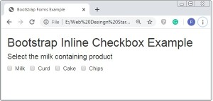 Bootstrap Inline Checkboxes