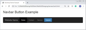 Bootstrap Navbar Button