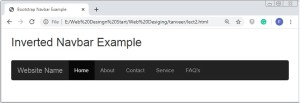 Bootstrap Navigation Bar Example