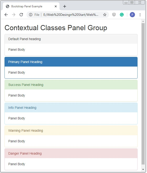 Bootstrap Panel Color