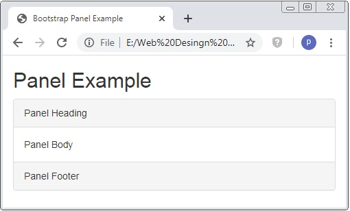 Bootstrap Panel Footer