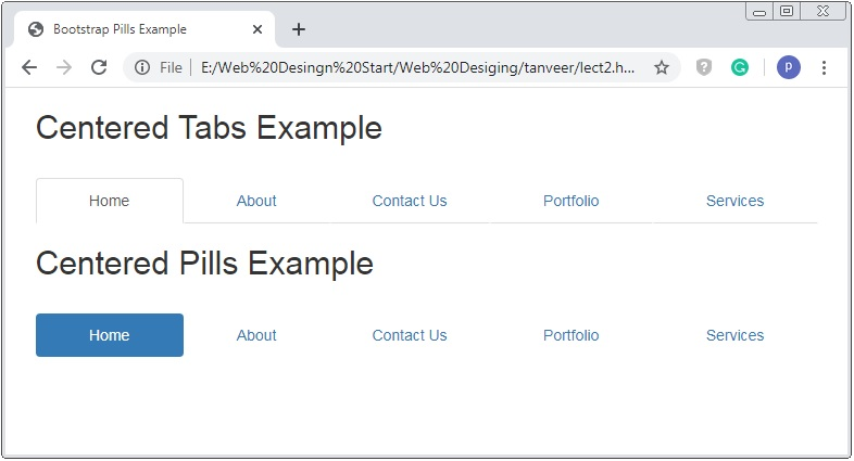 Bootstrap Tabs And Pills