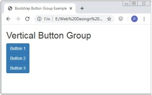 Bootstrap Vertical Button Group