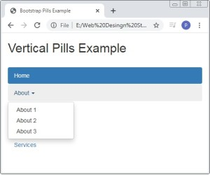 Bootstrap Vertical Pills With Dropdown