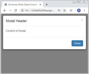 Bootstrap Modal Dialog