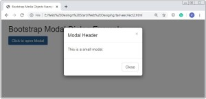 Bootstrap Small Size Modal