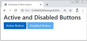 Bootstrap 4 Active and Disabled Buttons